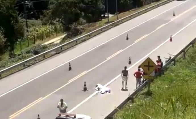 Ciclista morre em acidente na BR-393