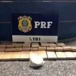 Droga encontrada em carro na BR-393