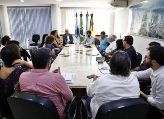 Samuca reuniu secretários para criar gabinete de crise.