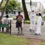 Moradores de rua vacinados