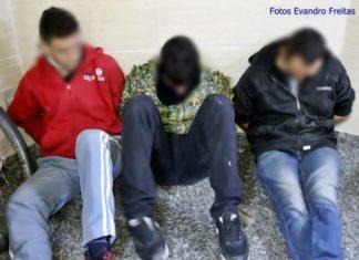 Suspeitos presos depois de atacar a tiros a PM