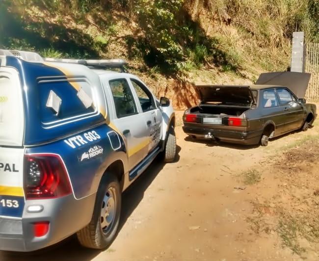 Veículo furtado é recuperado pela Guarda Municipal