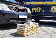 Dois presos com carro e 35 quilos de maconha na Via Dutra, em Piraí