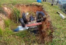Idoso morre em Piraí num acidente com trator