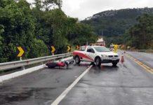 Motociclista morre em acidente na BR-393