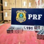 Carga de cigarro contrabandeado é apreendida em BM