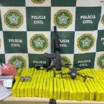 Droga apreendida em ação da Polícia Civil em Volta Redonda