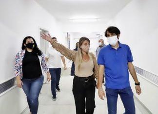 Samuca visita hospital que será entregue no dia 9 de junho