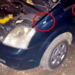 Disparos atingiram carro no paralama e atravessou a porta