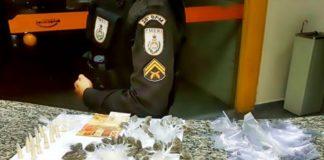 Três traficantes e três usuários são detidos pela PM em Pinheiral