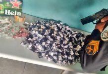 Suspeito preso com 600 pinos de cocaína no Ingá I