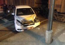 Taxista fica ferido num acidente com trem em Barra Mansa