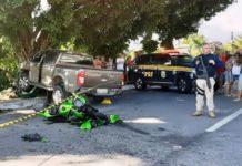 Motociclista morre em acidente com caminhonete, em Angra dos Reis