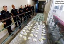 PM encontra 21 quilos de cocaína em pnios