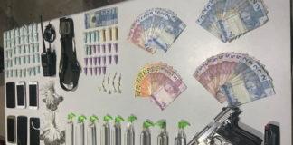 Drogas e arma são apreendidas com quatro presos em Volta Redonda