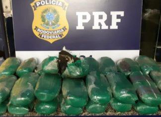 PRF apreende 30 quilos de haxixe na Rio/Santos