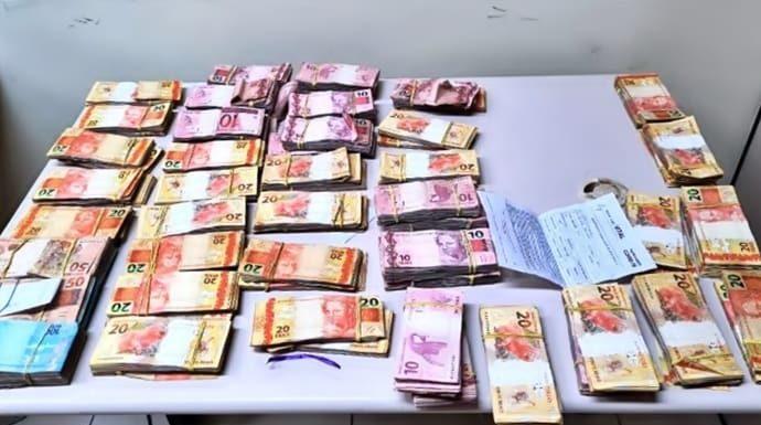 Dinheiro foi encontrado em carro de advogado na Via Dutra
