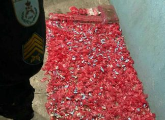 Drogas enterradas no Roma