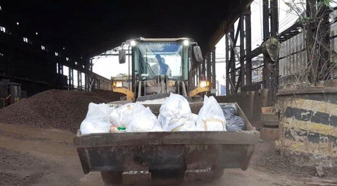 Droga incinerada em Volta Redonda