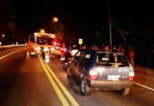 Embriagado homem atropela e fere casal de moto em Volta Redonda