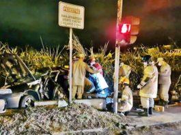 Homem morre em acidente de carro com ônibus em Volta Redonda