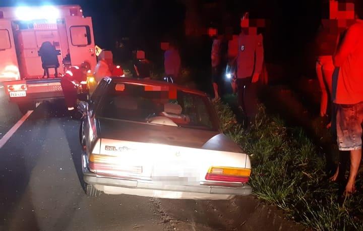 Ultrapassagem arriscada provocou o acidente que feriu ciclista