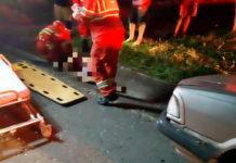 Ferido grave foi levado para hospital de Volta Redonda