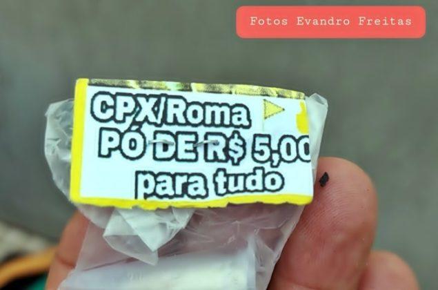Droga etiquetada para vender na boca