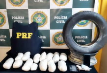 PRF e Polícia Civil apreende droga em pneu reserva na Via Dutra