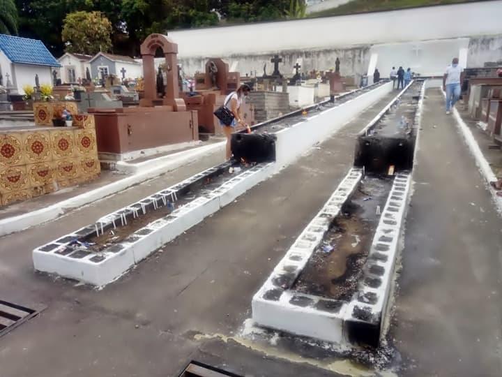Barra mansa dividiu os dias de visita e homenagens no cemitério municipal