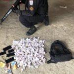 Droga apreendida com dois suspeitos em Resende