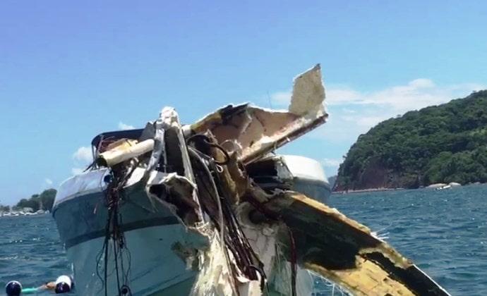 Uma criança, de 11 anos, morreu no acidente no mar de Angra