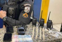 PM encontra cocaína denro de sacos de biscoito, em Barra Mansa