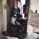 Casa incendiada por adolescente em Três Rios