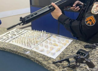 PM apreende droga e revólver em Barra Mansa