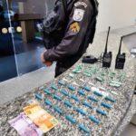 Cocaína apreendida em tentativa de fuga em BM