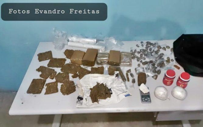 Droga encontrada em casa usada como refinaria