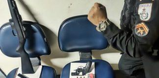 Policial civil reformado é detido depois de ameaçar esposa com revólver