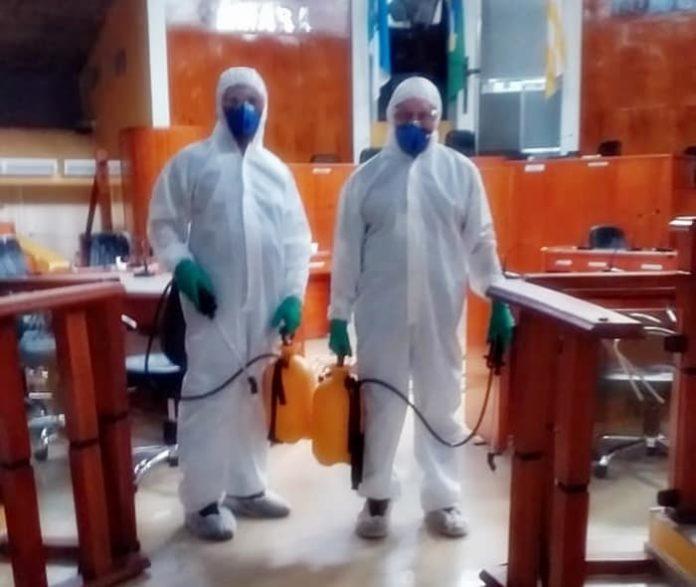 Câmara de Volta Redonda faz sanitização contra o Covid-19