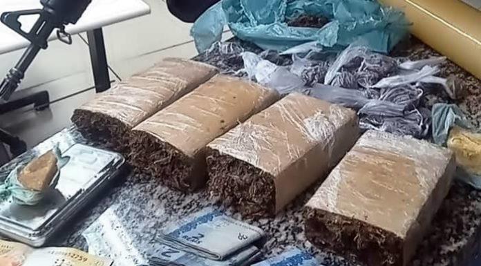 Polícia apreende 1,5 quilo de maconha com jovem em Itatiaia