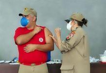 Bombeiros do 22º GBM são vacinados contra a Covid-19 no Sul do Rio