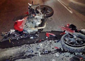 Dois ficam feridos em acidente de moto em Volta Redonda