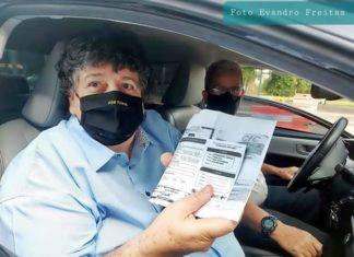 Prefeito de Volta Redonda toma a primeira dose contra Covid-19