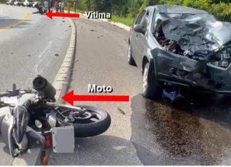 Motociclista morre em acidente com carro na Rio/Santos