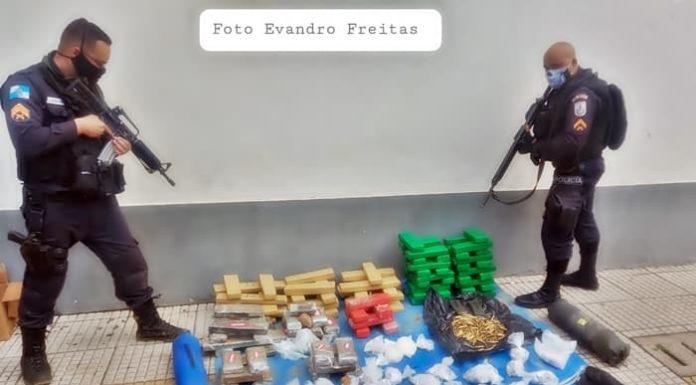 PM descobre depósito do tráfico com munições de fuzil no Santa Cruz