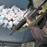 Carro recheado de 1,3 pinos de cocaína é encontrado em Volta Redonda