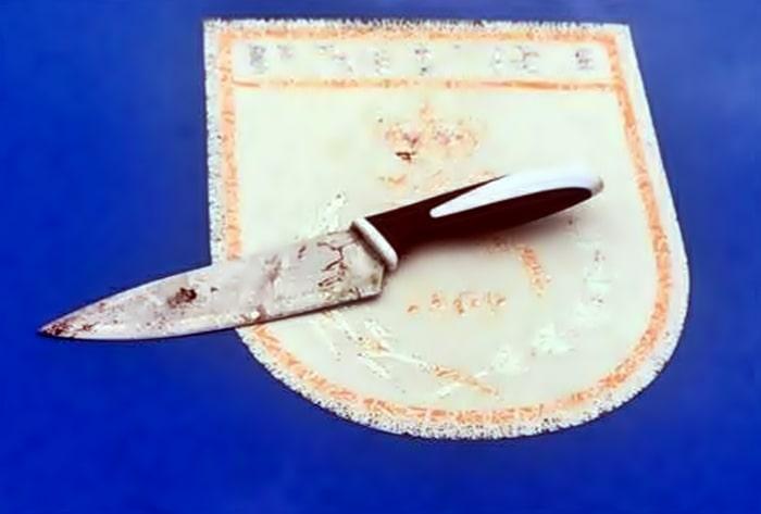 Faca usada para matar enteado durante briga em Três Rios