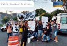 Motoboys fazem protesto pela saída do comandante da Guarda de Volta Redonda