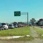Barreira sanitária em Penedo leva trânsito e filas até a Dutra