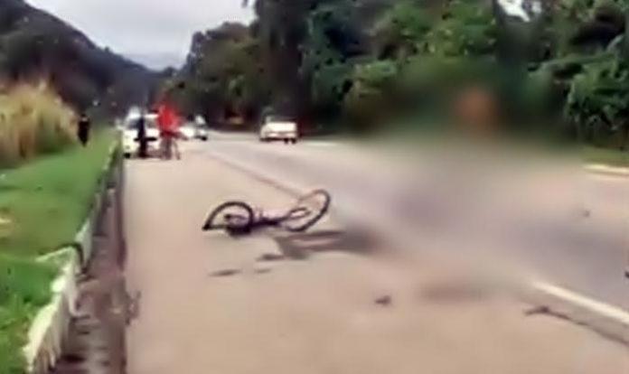Ciclista é atropelado na BR-101, em Angra dos Reis